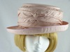 Nigel Rayment Wedding hat Pink Silk
